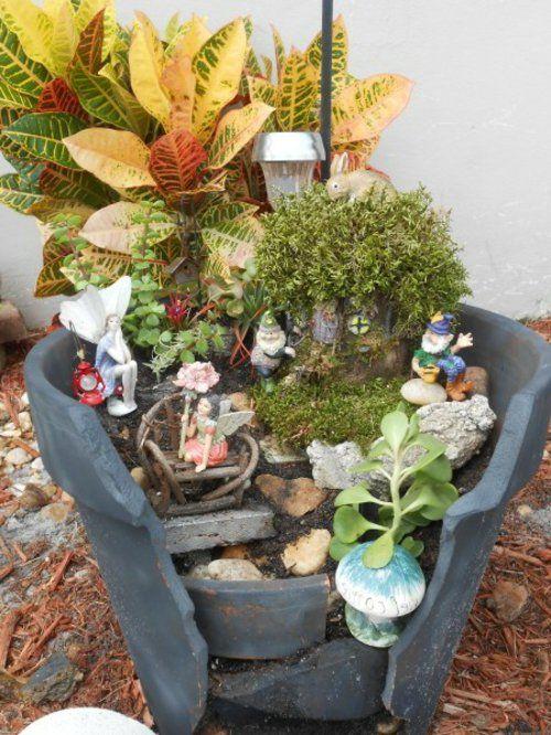 Beautiful Kreativer Minigarten aus kaputtem Blumentopf Haben Sie vielleicht letzter Zeit einige Pflanzent pfe aus Ton kaputt