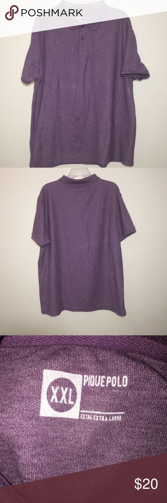 [Pique Polo] men's purple polo shirt sz XXL [Pique Polo] men's purple polo shirt sz XXL pique polo Shirts Casual Button Down Shirts