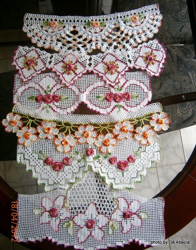 Alguns barrados de crochê por Gê Abecia