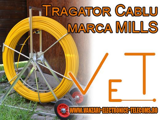 Tragatorul cablu marca Mills este un produs ce ofera o solutia ideala, compacta dar si de buget atunci cand vine vorba de instalarea cablurilor in canalizatie. Descopera mai multe informatii despre tragatoarele cablu disponibile in magazinul nostru online pe http://www.vanzari-electronice-telecoms.ro/produse/45/tragatoare-cablu/
