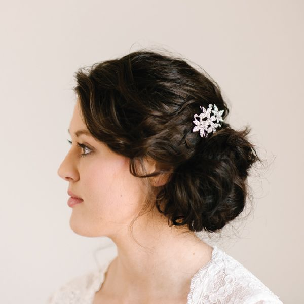 Cubic Zirconia Bridal Hair Comb by Pearl & Ivory ®  - Find more inspiring bridal hair accessories from our collection www.pearlandivory.com/hair-adornments. Photography by Yolande Marx #PearlandIvory #HairAdornments #HairAccessories #HairCombs #Cubic Zirconia