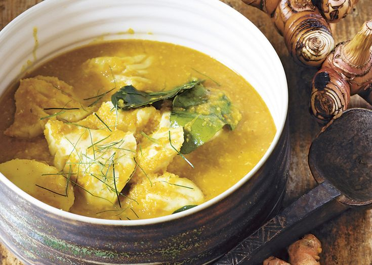 cambodian-style fish poached in coconut milk | #seafood #coconut #recipe #foodwise