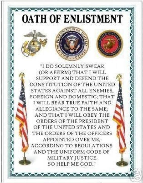USMC Oath of Enlistment