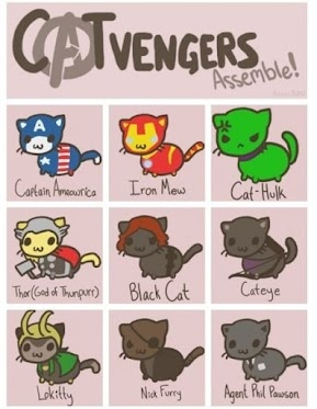 AVENGERS ASSEMBLE!Catveng Assembly, Funny, Crazy Cat, Cat Avengers, Avengers Assembly, Kitty, Superhero, Cat Lady, The Avengers