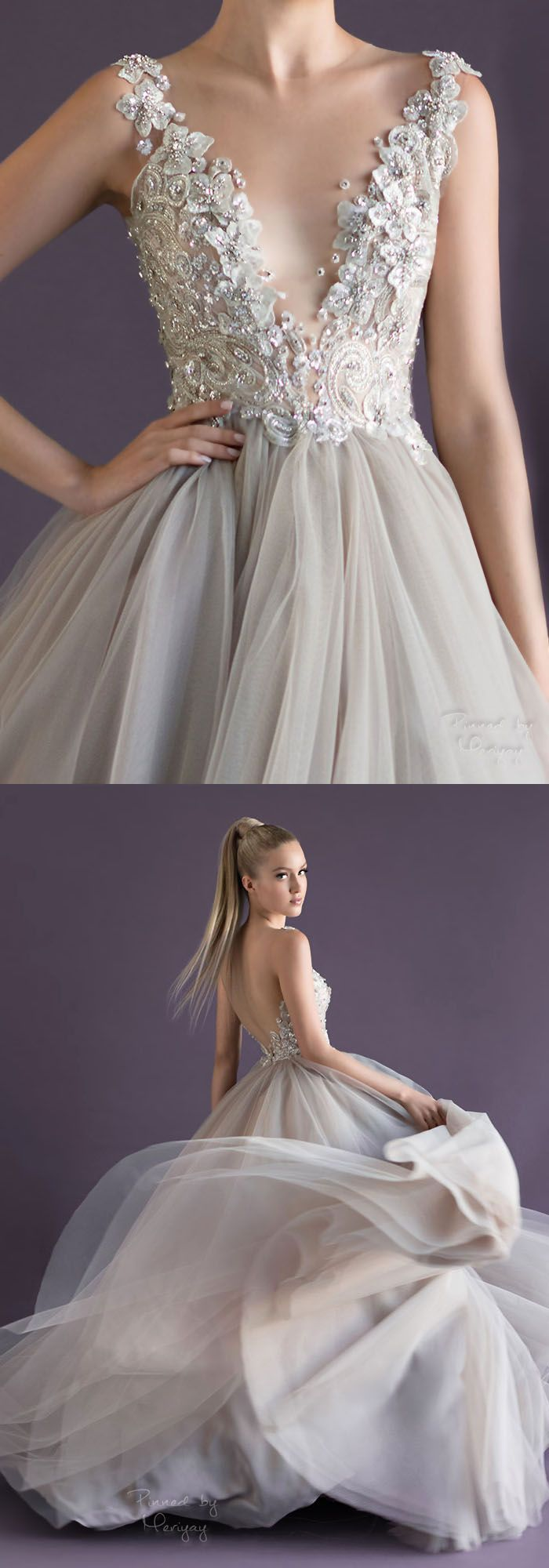 My Nan loves this dress, and its so interesting how the straps stop at the front (Paolo Sebastian).