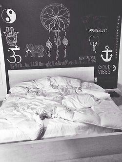 Best Chalkboard Wall Bedroom Ideas On Pinterest Desk Ideas - Bedrooms chalkboard paint walls decor