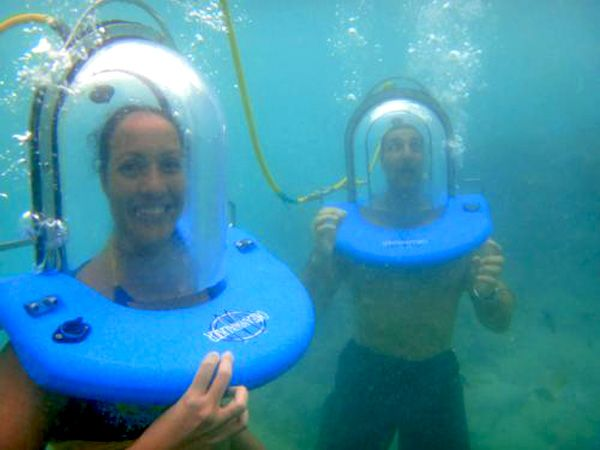 You can even breathe and walk underwater ;-) Try Oceanwalker.