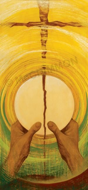 epiclesis -noun, the invocation of the Holy Spirit to consecrate the bread and wine of the Eucharist  Photo: Eucharist Banner by Sr Mary Stephen CRSS