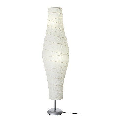 IKEA DUDERO Oriental Asian Rice Paper Floor Lamp Light Art Modern New