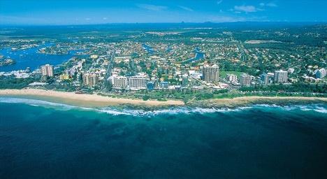 View of Mooloolaba Beach - Sunshine Coast, Australia