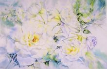 White Roses by Nancy Newman