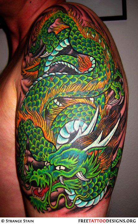 Shoulder Dragon Tattoo