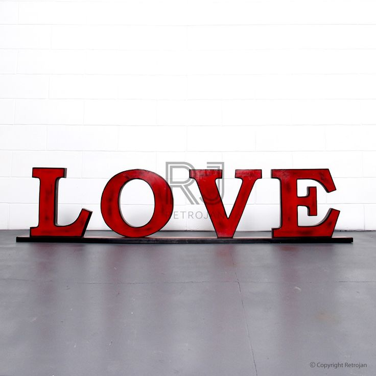 'LOVE'  Retro Iron Feature Letters - Red / Black | $99.00
