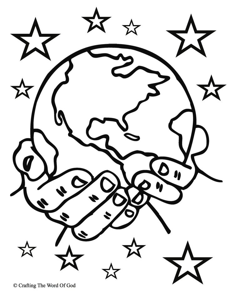 Days Of Creation Coloring Pages Beautiful Creation ...