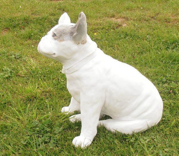 sculpture french bulldog stone resin lifesize sculptures by sculptor christine close