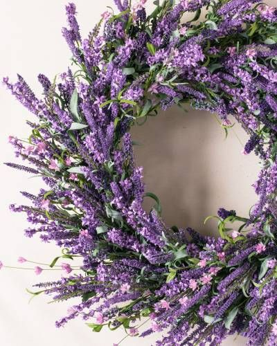 A burst of vibrant color from our Provencal Lavender Wreath.
