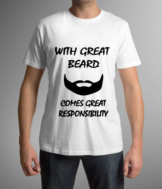 T-shirt with funny print, Great Beard, Husband t-shirt, Mens clothing, Great Gift, Beard lover