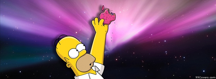 Homer Donut Apple Computers Facebook Covers