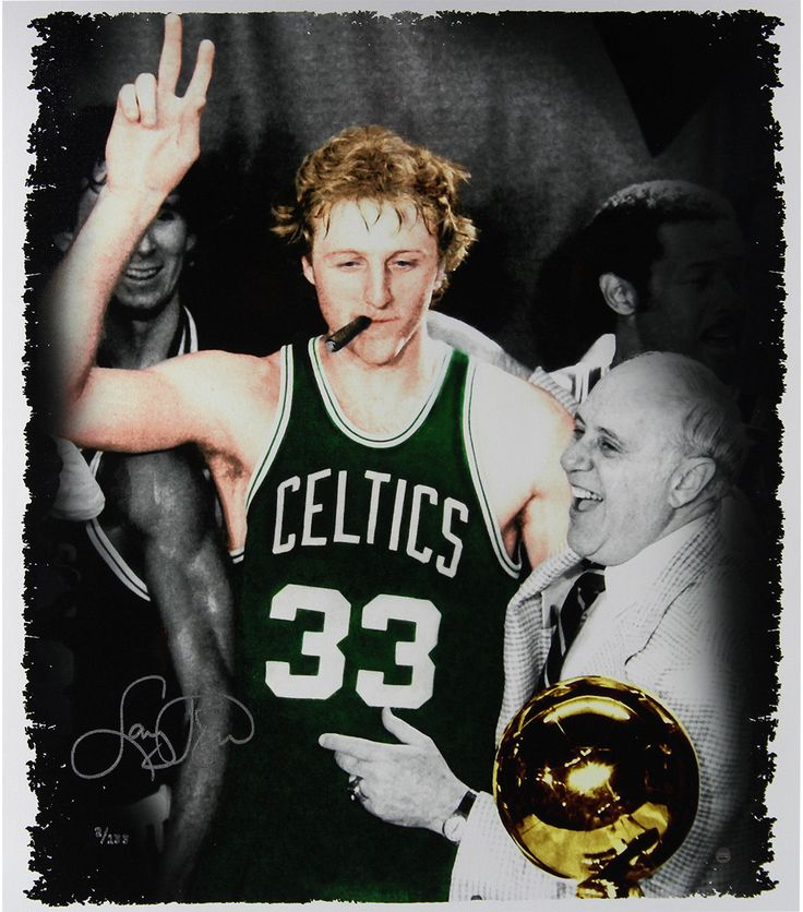 Larry Bird Signed Colorized 22x26 Canvas (LE/133)