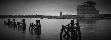 Image result for images cardiff bay black and white