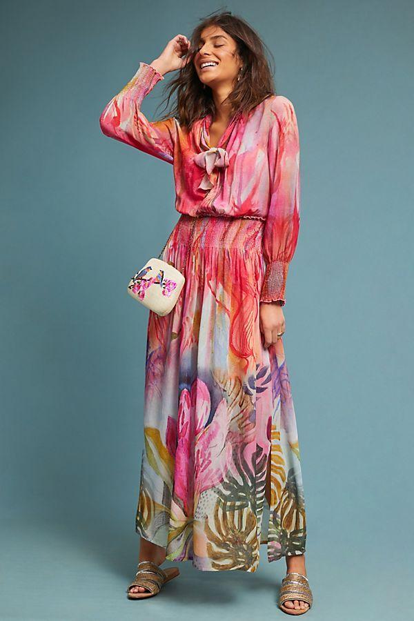 73a83e2836d081 Watercolor Maxi Dress | Coveting for a precise wardrobe | Dresses ...