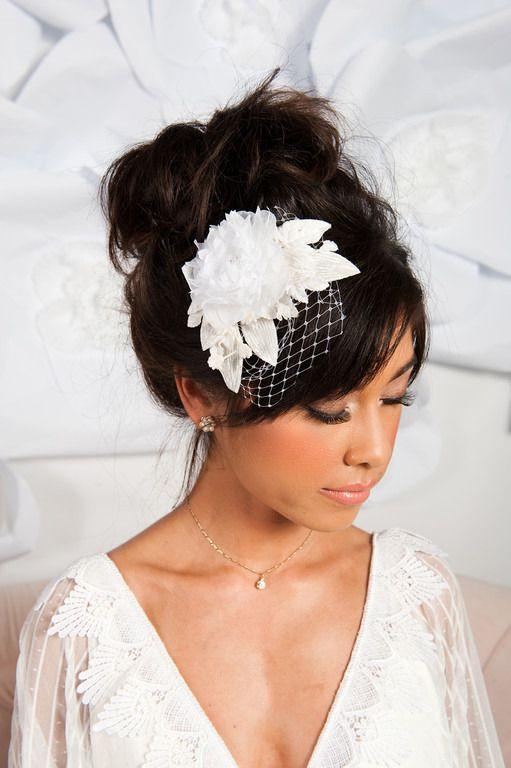 birdcage veil, flower, headpiece, veil, , accessories, veils, headpieces