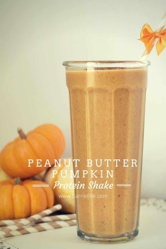 Peanut Butter Pumpkin Protein Shakes