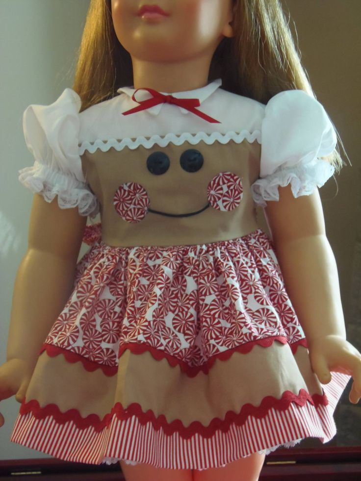 This is a doll dress, but it would be adorable in a little girls dress