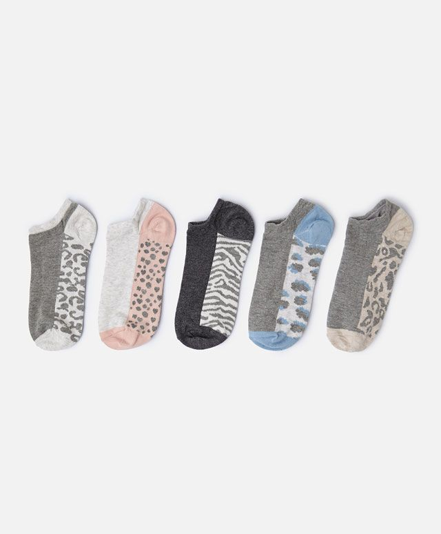 Pack de 5 calcetines estampado animal - OYSHO