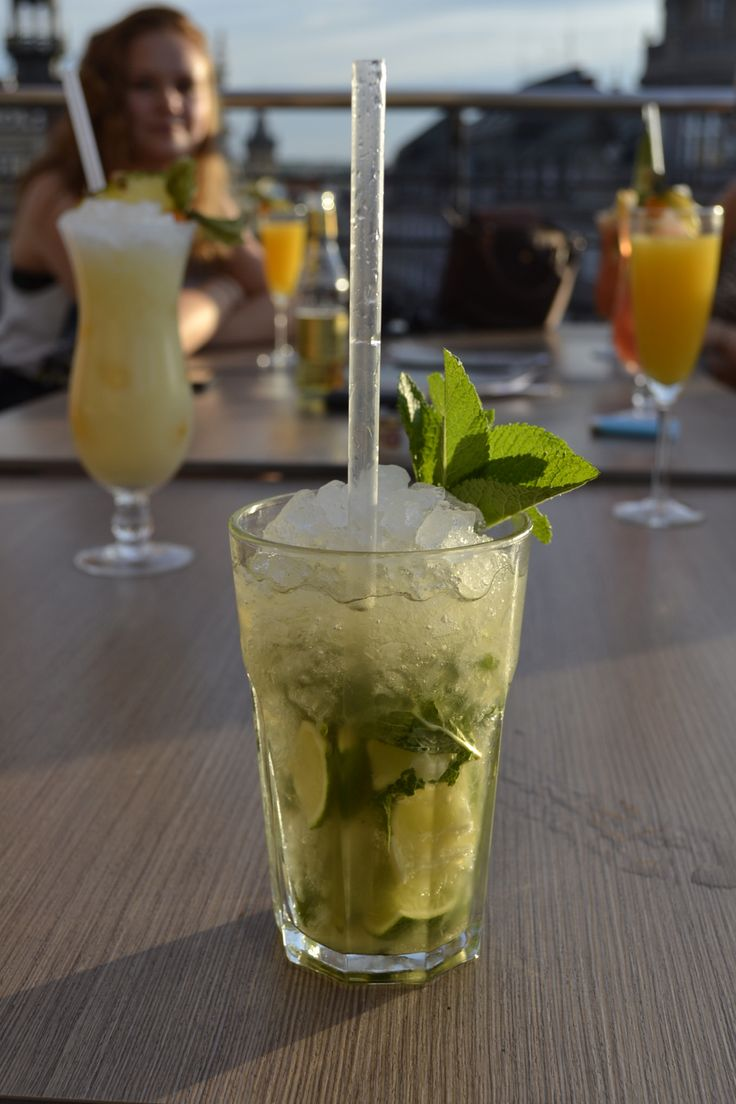 Mojito at the Duplex Bar with the best view of Prague