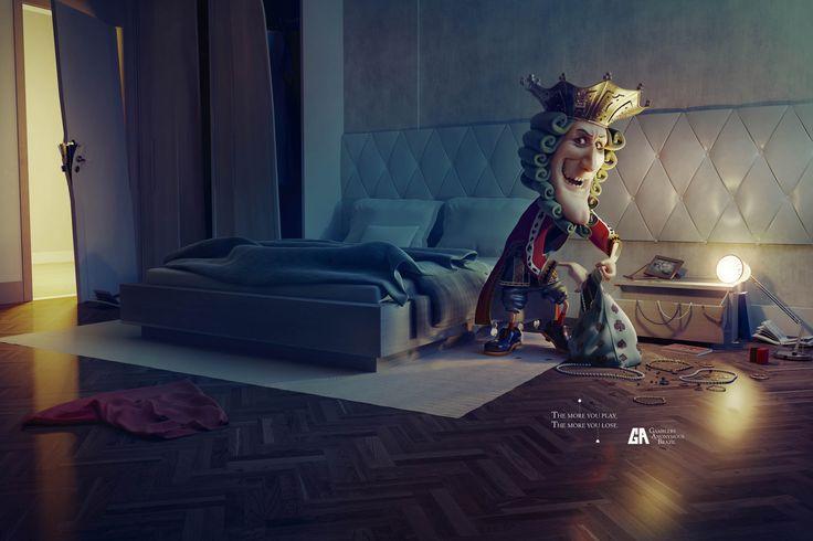 Gamblers Anonymous Brazil. Print campaign
