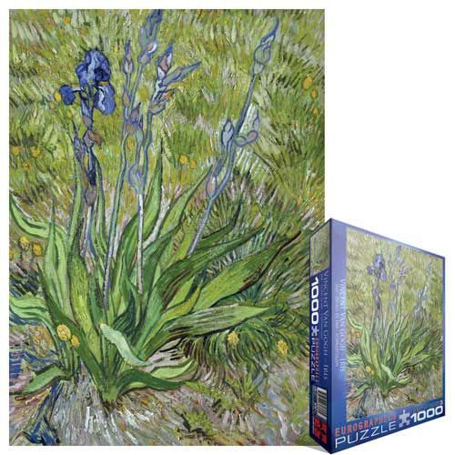 Iris, Jigsaw Puzzle by Vincent Van Gogh at Eurographics - the colors and lines, this would be a tough one..
