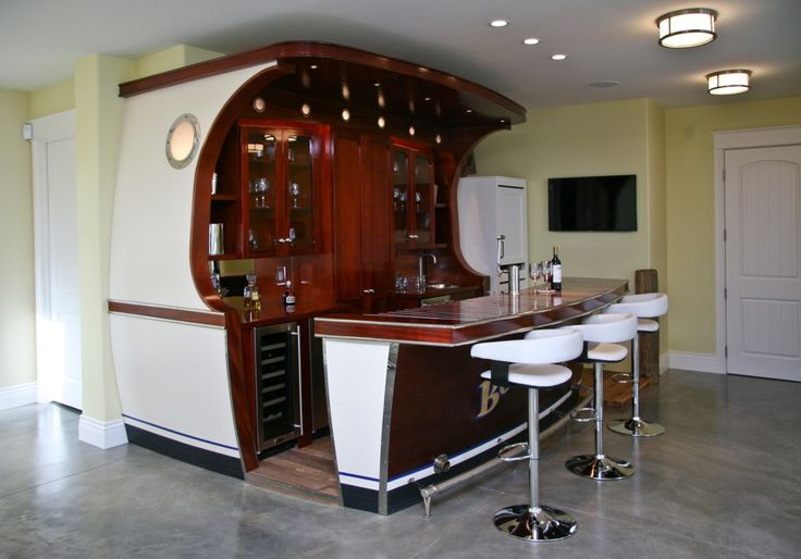 This Nautical inspired Wet Bar Ships Currents Of Fun To Your Home Dock Use Paper Umbrellas In