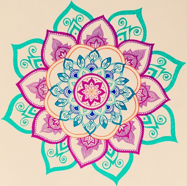 Mandala drawing by Felicia's inspirations