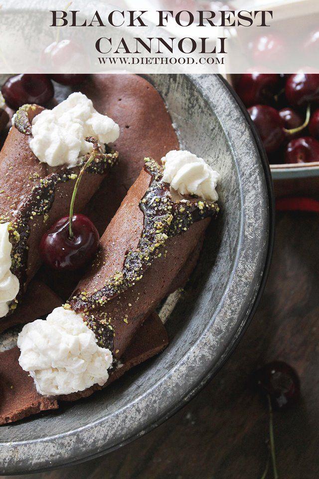 Black Forest Cannoli | www.diethood.com | #10lbcherrychallenge #cannoli #cherries