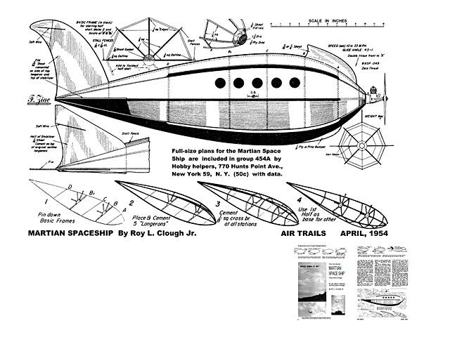 Martian Space Ship plan - You can download plans for this flying vintage craft.   Vintage ...