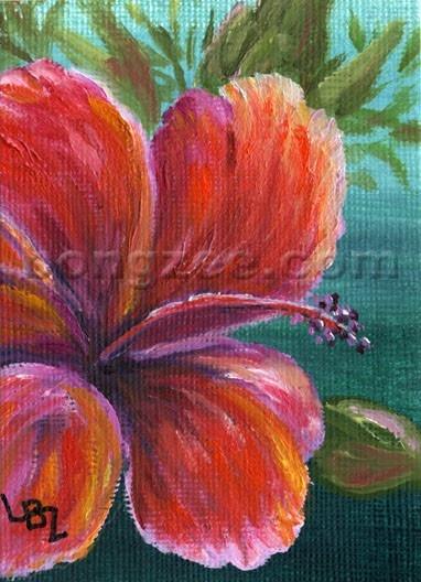 Hibiscus art by Hawaiian artist Lisa Bongzee