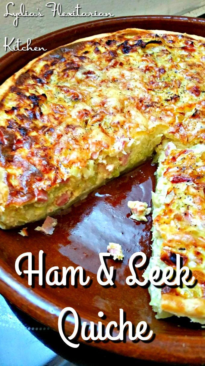 Ham and Leek Quiche ~ Camino Flavors ~ Lydia's Flexitarian Kitchen