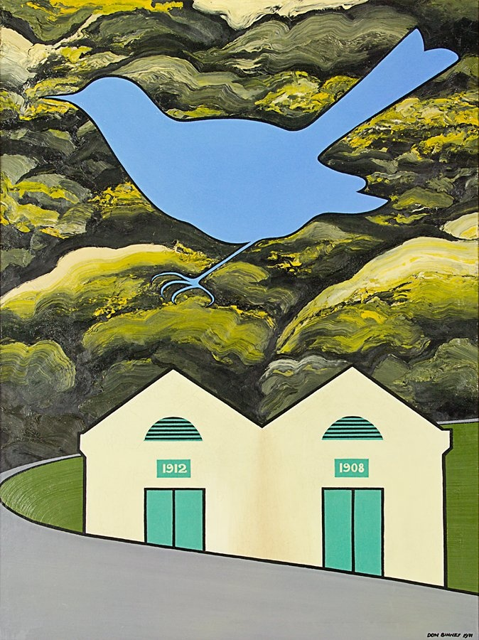 Don Binney, Vanishing Wellington Bird (1971).