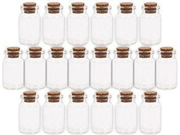 Alsino 60 Stück Glasfläschchen mit Korken GF-01 Set Leere Mini Glas Flaschen Schnapsflaschen Sandfläschchen, bitte die Maße genau beachten