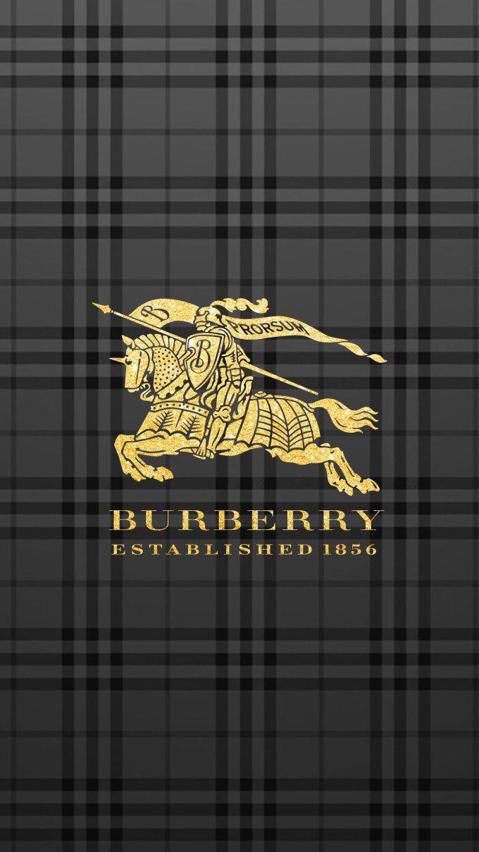 バーバリー/ゴールドロゴブラックチェック iPhone壁紙 Wallpaper Backgrounds iPhone6/6S and Plus  BURBERRY