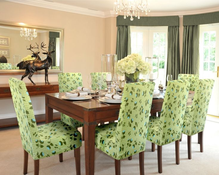 Colorful Parsons Chair Covers