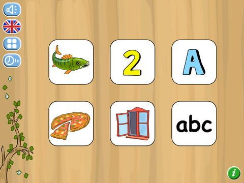 Flash card app for early learners.
