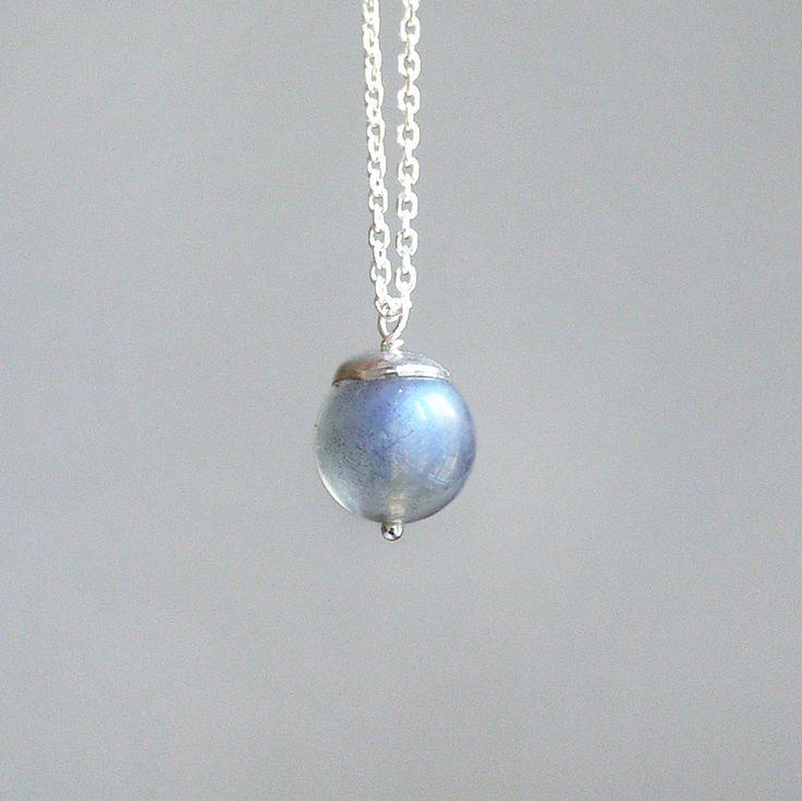 Small Universe - Labradorite 925 sterling silver necklace