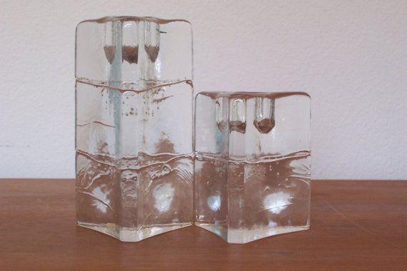Vintage Pair Mid Century iittala ARKIPELAGO Glass by SKOOPINKIE, $24.00