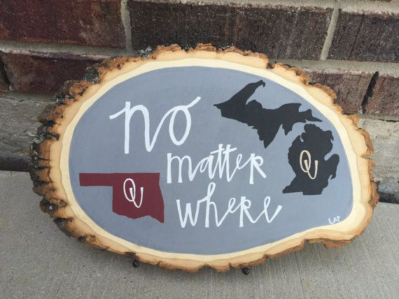 No Matter Where / hand painted decor by WoodArtByLauren on Etsy