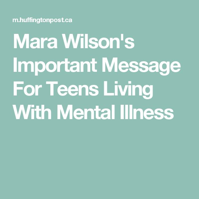 Mara Wilson's Important Message For Teens Living With Mental Illness