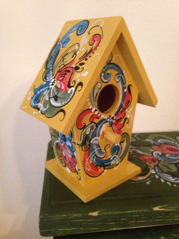 Little Norwegian Rosemaled Bird House by OlsenTrademarkCrafts, $15.00