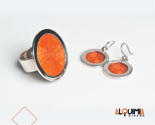 Anillo Plata Crin 3cm - ANIP030. Aretes Plata Crin Mini 1 Rodela con Aza -AREP068.