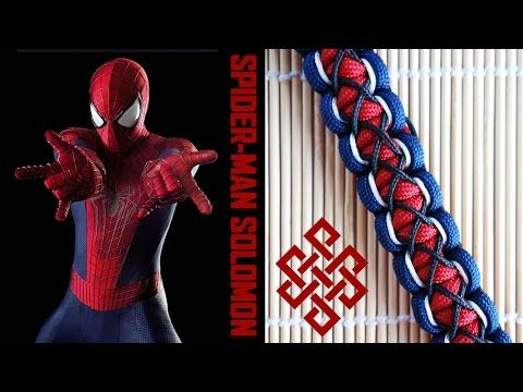 Spider-Man Themed Stitched Solomon Paracord Bracelet Tutorial Here's how to weave a Spider-Man themed stitched solomon paracord bracelet! As you Weavers can quite clearly see, I love themed bracelets and this one takes the solomon stitch to a different level with a good amount of lacing and stitching with micro cord. A little more effort on this one in terms of all the micro cord accents, but I think the final product is worth it! Let me know what you Weavers think!